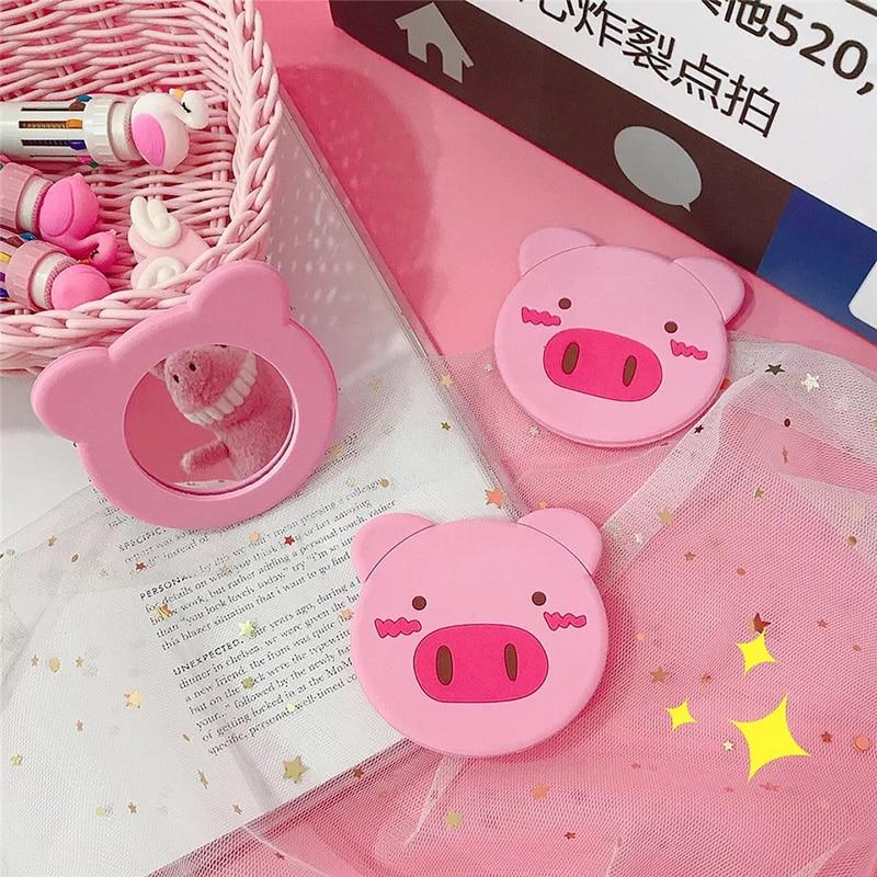 Spiegel Kaufen 2 Erhalten 1 Freies 1 Pc Nette Cartoon Mini Piggy Tragbare Rund Hand Spiegel Tasche Tragbare Make-up-tool Ein Kunststoffkoffer Ist FüR Die Sichere Lagerung Kompartimentiert Schminkspiegel