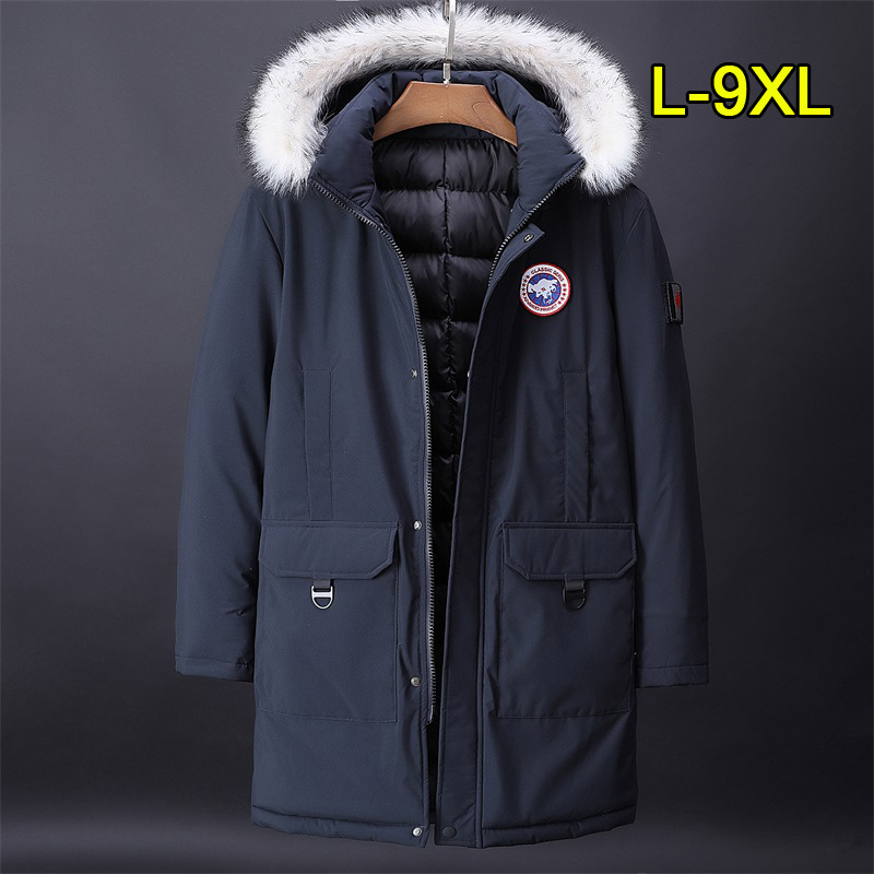 2018 Brand New Mens Plus size L to 9XL Windstppper Waterproof Fashion winter   Parka   removeable fur