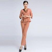 Free Shipping Summer Thai Style Massage Work Wear Women Work Uniform Hospital Nurse Uniform Excellent Clothe