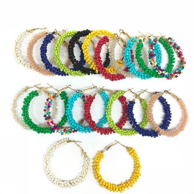 WLP women fashion Earrings 2018 vintage Bohemia earring Brand Jewelry Geometric Alloy Plating Simple hoop Earrings for women