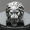 Size 7 to Size 14 316L Stainless Steel Punk Gothic Cool  Silver Lion King Head Hot Ring