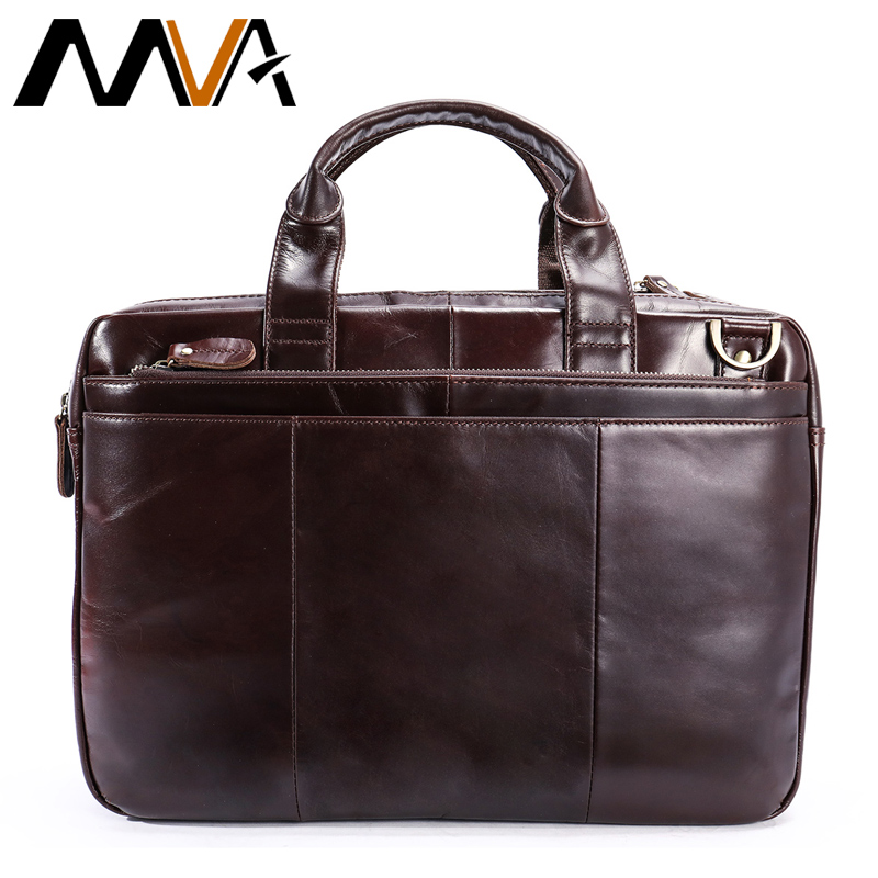 MVA Business Bag Men Briefcases Genuine Leather Handbags Tote Computer Bags for Document Messenger Bag Men Laptop Male Briefcase mva genuine leather men bags new man briefcase laptop handbag messenger bag men s business bags male crossbody handbags