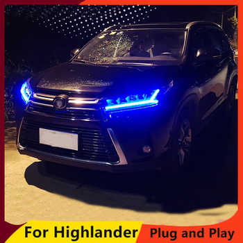 Car Styling for Toyota Highlander Headlights 2018 New Kluger DRL low beam High Beam LED Dynamic turn signal - DISCOUNT ITEM  20% OFF All Category