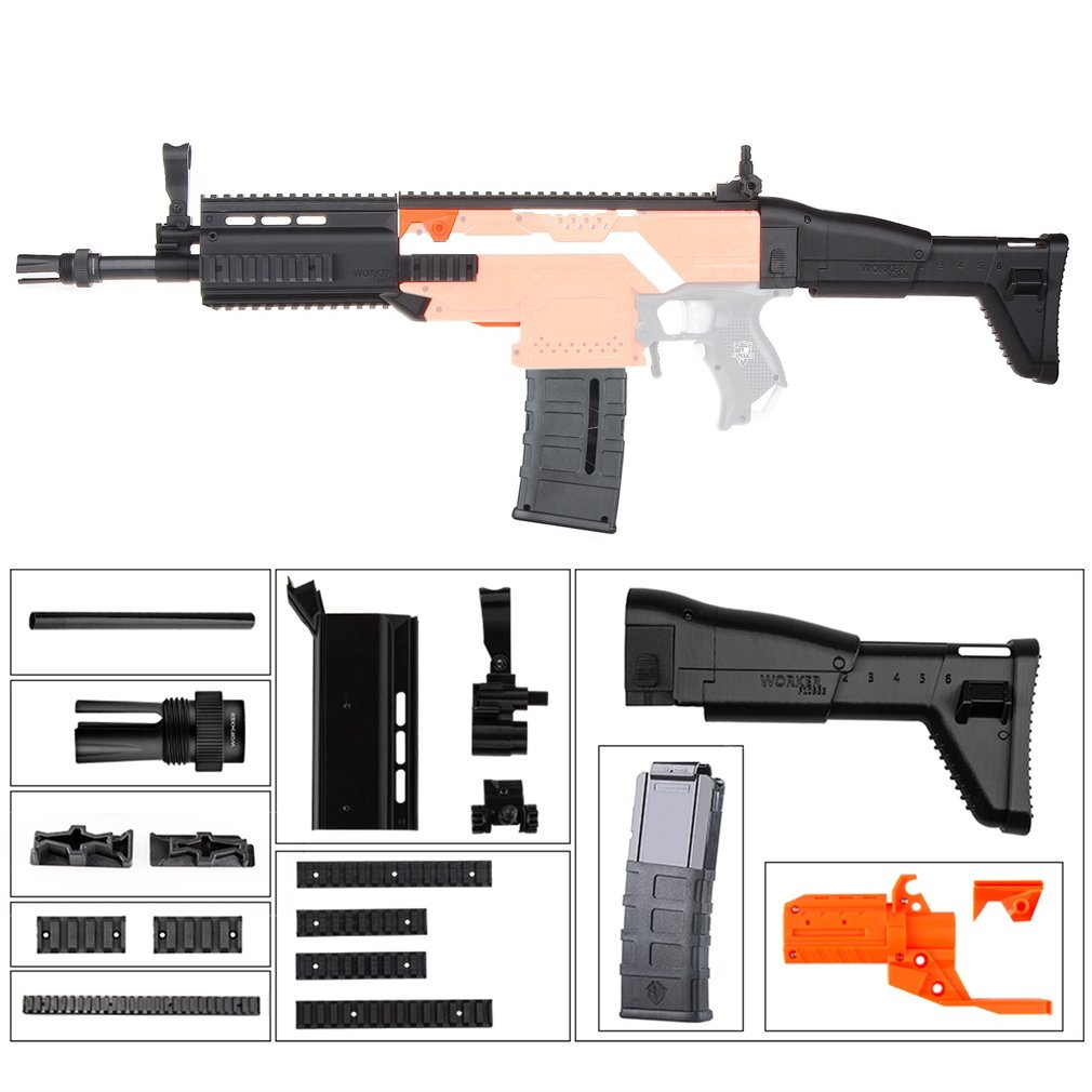 Kit de pompe combinée en plastique Kit de décoration FN cicatrice pour Nerf n-stryfe Elite pistolet jouets modifier accessoire pour Nerf jouet pistolets joueur de jeu
