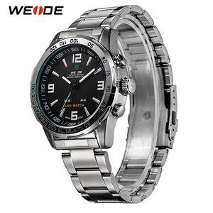 Image 3 - WEIDE 2019 גברים של עסקים מקרית שעונים יוקרה מותג קוורץ LED תנועה דיגיטלית שעון יד שעון צבאי Relogio Masculino