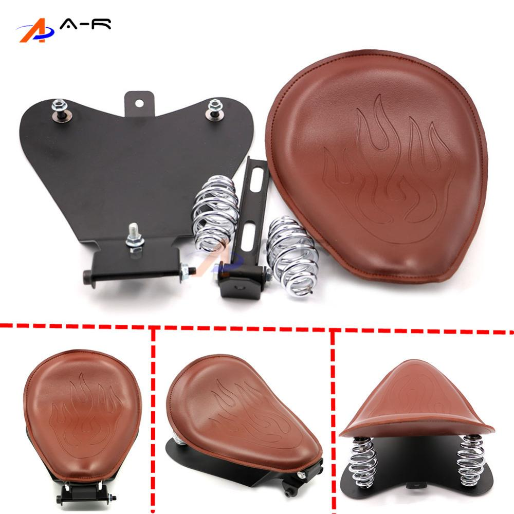 For 04-06 10-15 Harley Sportster 48 XL 883 1200 Flame Leather Solo Seat Cover Mount Kit Baseplate Sitting Pad Base Plate Retro waste ink box for epson t5000 printer