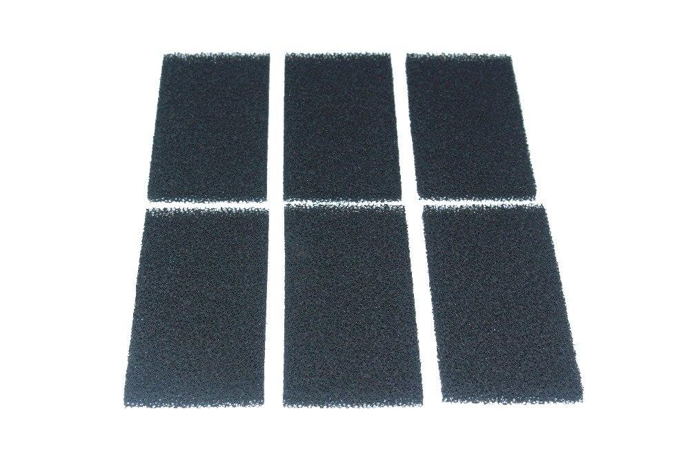 Pack of 6 Compatible Carbon Foam Filter Sponges