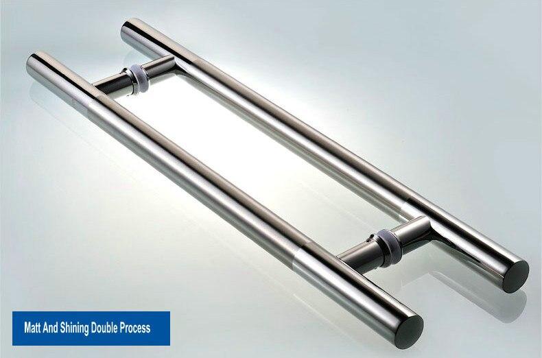 1800 мм длиной(1600 мм шаг) высококлассная матовая и зеркальная поверхность, полировка и процесс рисования проволоки из нержавеющей стали стеклянная дверная ручка