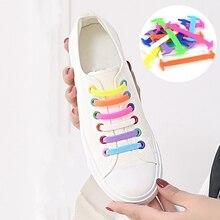 16Pcs/Set Women Men Athletic No Tie Shoelaces Fashion Unisex Elastic Silicone Lazy Shoe Lace Fit Strap Sneakers Shoes