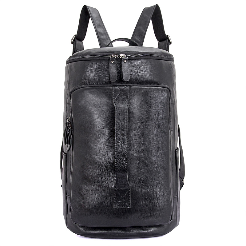 JMD Brand Laptop Backpack Men's Travel Bags 2017 Multifunction Rucksack Waterproof Leather Black Computer Backpacks For Teenager
