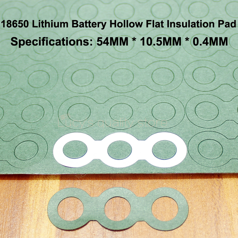100pcs/lot 18650 Battery Pack Insulation Gasket Meson 3S Hollow Positive Surface Pad Insulation Gasket