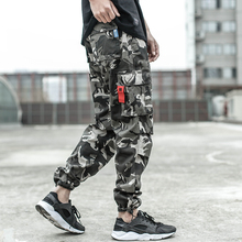 2018 Newly Designer Men Jeans Casual Pants Loose Fit Big Pocket Banded Ankle Jogger Brand Fashion Cargo