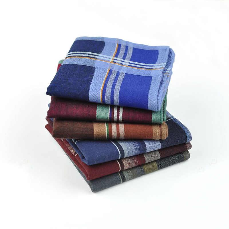 12 шт/лот полосатый клетчатый мужской свадебный платок хлопковый тканевый носовой платок праздничные нарядные платки Рождественские мужские карманные квадратные