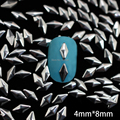 Nrs7 1000 4 mm * 8 mm diamante de Metal Studs Nail Art decoração Metal 3D etiqueta do prego DIY acessórios de telefone celular