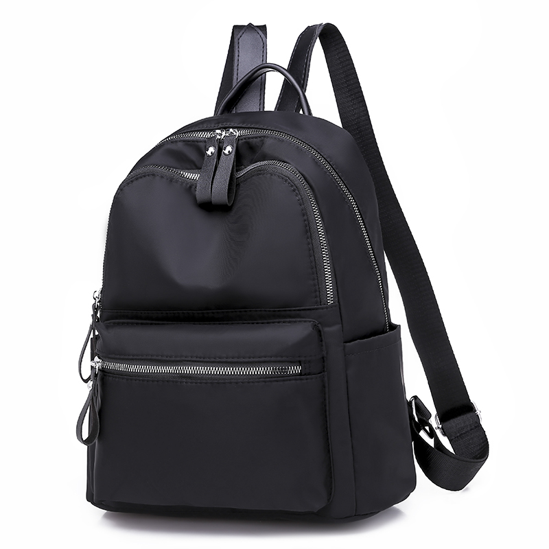 Mochila feminina casual oxford escola bolsa de ombro à prova dwaterproof água mochilas para adolescentes preto estudante volta pacote