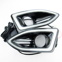 High Quality NEW 12V LED Car DRL Daytime Running Lights Accessories With Fog Lamp Hole For