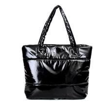 New Women leather handbag New winter space bags han edition down cotton-padded bag tote shoulder bags