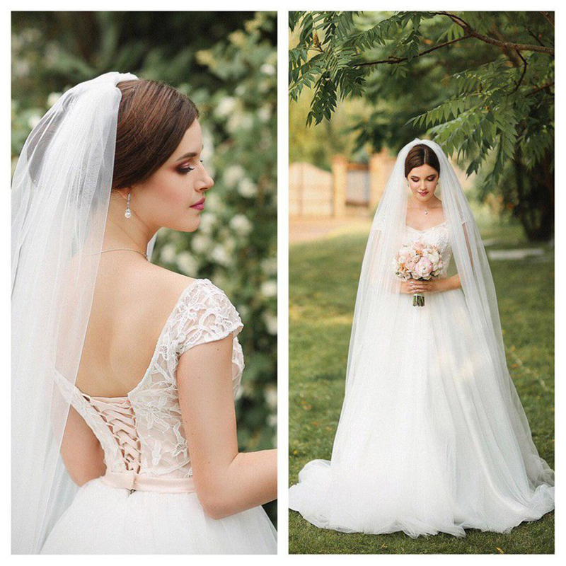 Wedding Veil  Voile Mariage 3m Width White Ivory Bridal Veil Velo Novia Welon Slubny  Bride Veil With Comb Wedding Accessories