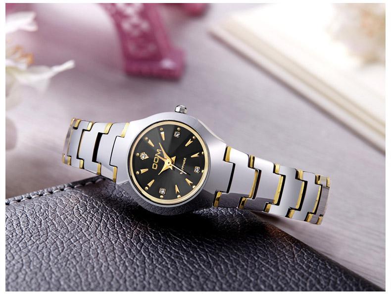 Hk dom luksusowe top marka męska zegarek wolframu stal wrist watch wodoodporna biznesu kwarcowy zegarek fashion casual sport watch 17