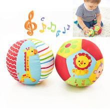 Baby Toys For Children Animal Ball Soft Plush Mobile Toys With Sound Baby Rattle Infant Body Building Ball Toys For 0-12 Months(China)