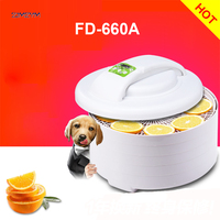 FD 660A Home electric food meat fruit vegetable herb dehydrator dryer jerky dehydrator drying machine oven dehumidifier 0 250W