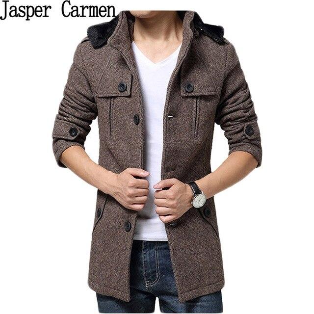 132ebd9756a9d Free shipping New 2017 Classic Autumn Winter Fashion Casual Men Wool Jackets  Warm Coats Male Slim