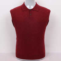 large size 100%cashmere dark argyle knit men smart casual thick sweater pullover polo collar EU/S105 3XL130 retail wholesale