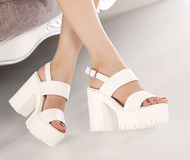 Aliexpress.com : Buy black Sandals Peep Toe Shoes Ankle Strap