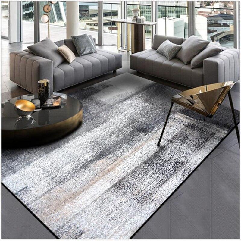 US $11.83 25% OFF|AOVOLL Simple Modern Abstract Chinese Ink Black Gray  Carpet Bedroom Kitchen Door Mat Living Room Floor Mat Carpet Rug Bedroom-in  ...