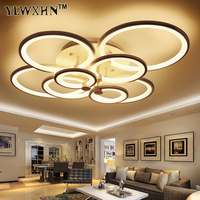 Modern Minimalist Living Atmosphere Circular Ceiling Lamps Creative Acrylic Electrodeless Dimming Lighting Remote Control