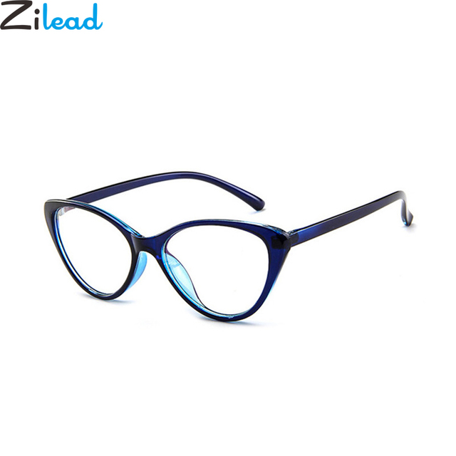 Zilead Women Cat Eye Spectacle Eyeglasses Frame Men Clear Lens Optical Plain Glasse Frame Computer Glasses Myopic Glasses Unisex