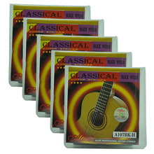 5 Sets Alice A107BK-H Classical Guitar Strings Hard Tension Black Nylon