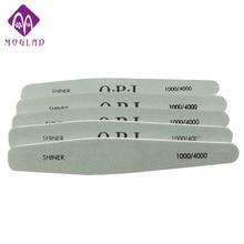 5PCS/lot diamond shape nail buffer file 1000/4000 nail polish tool sandpaper slim kit manicure tools