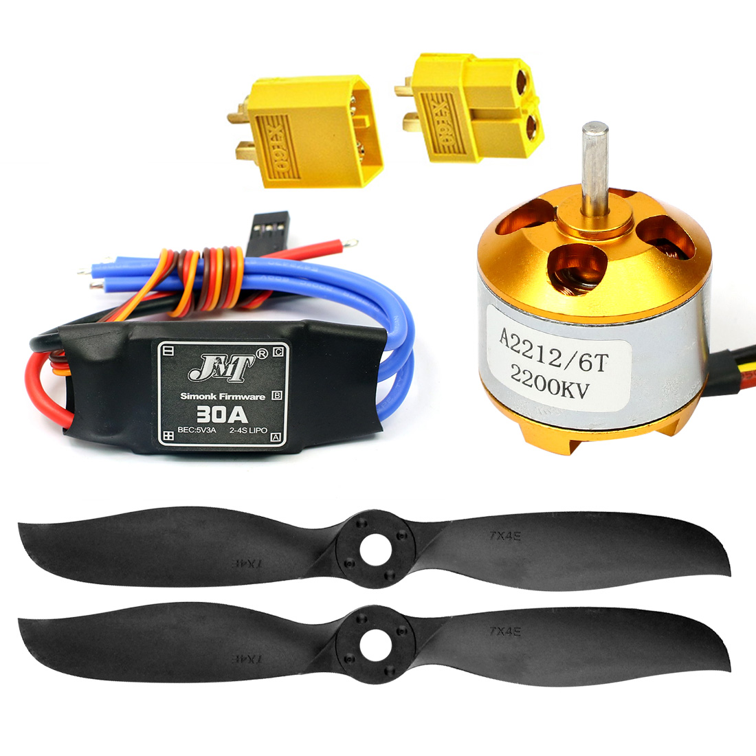 7040 7x4E 7*4E Propeller Spare Parts 2200KV A2212 Brushless Motor Simonk 30A ESC for RC Airplanes Quadcopter Acccessories купить в Москве 2019