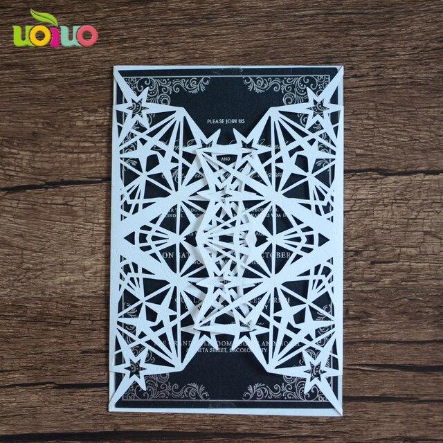 invitation cards for wedding 50setslot laser cut star wedding