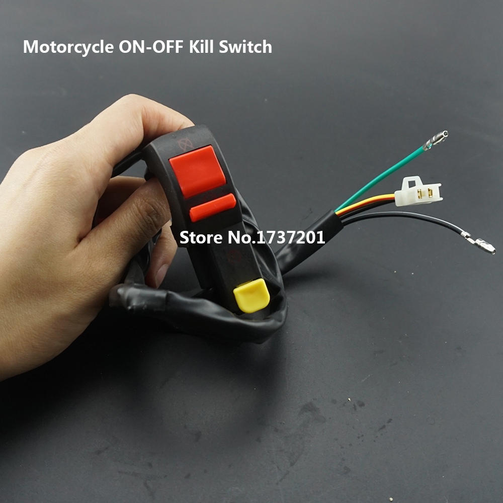 Yamaha Kill Switch Wiring Off Road Motorcycle Electric Starter Handlebar Start Stop Atv Quad Button 4 Wire Connection Dirt Pit Motor Bike In Switches From