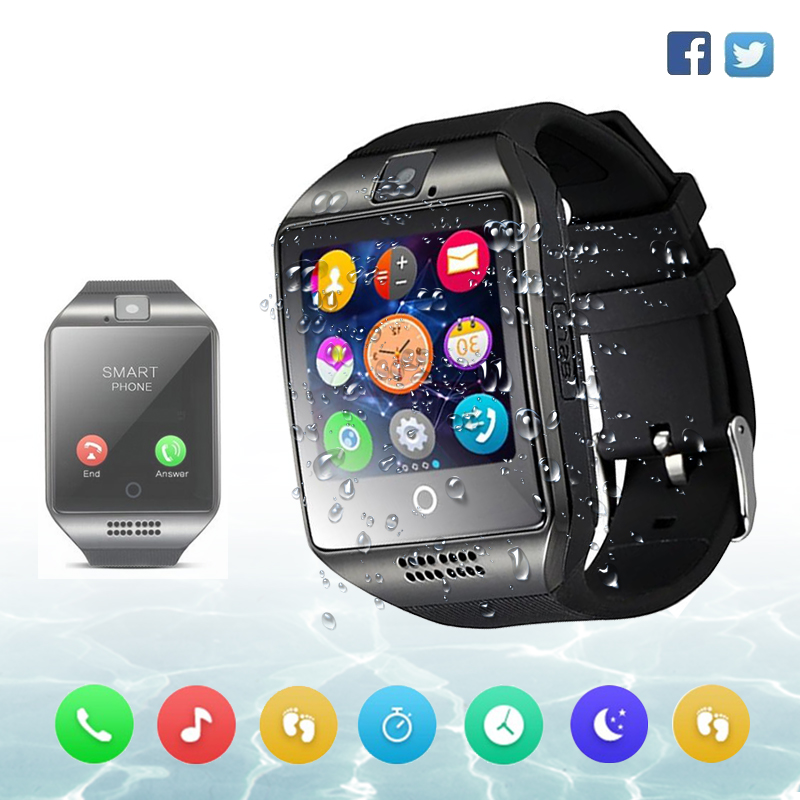Smart Watch Men Waterproof IP67 Sim Card Android Cam Phone Sport Heart Rate Monitor Watch Smart IOS Compatible Better than dz09(China)