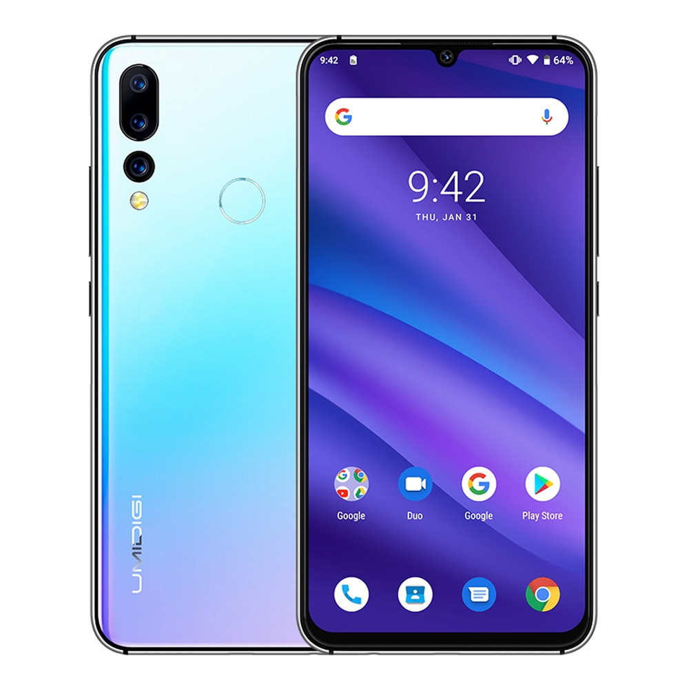 Version mondiale UMIDIGI A5 PRO Android 9.0 Octa Core téléphone portable 6.3 'FHD + 16MP Triple caméra 4150 mAh 4 GB RAM 32G ROM Smartphone