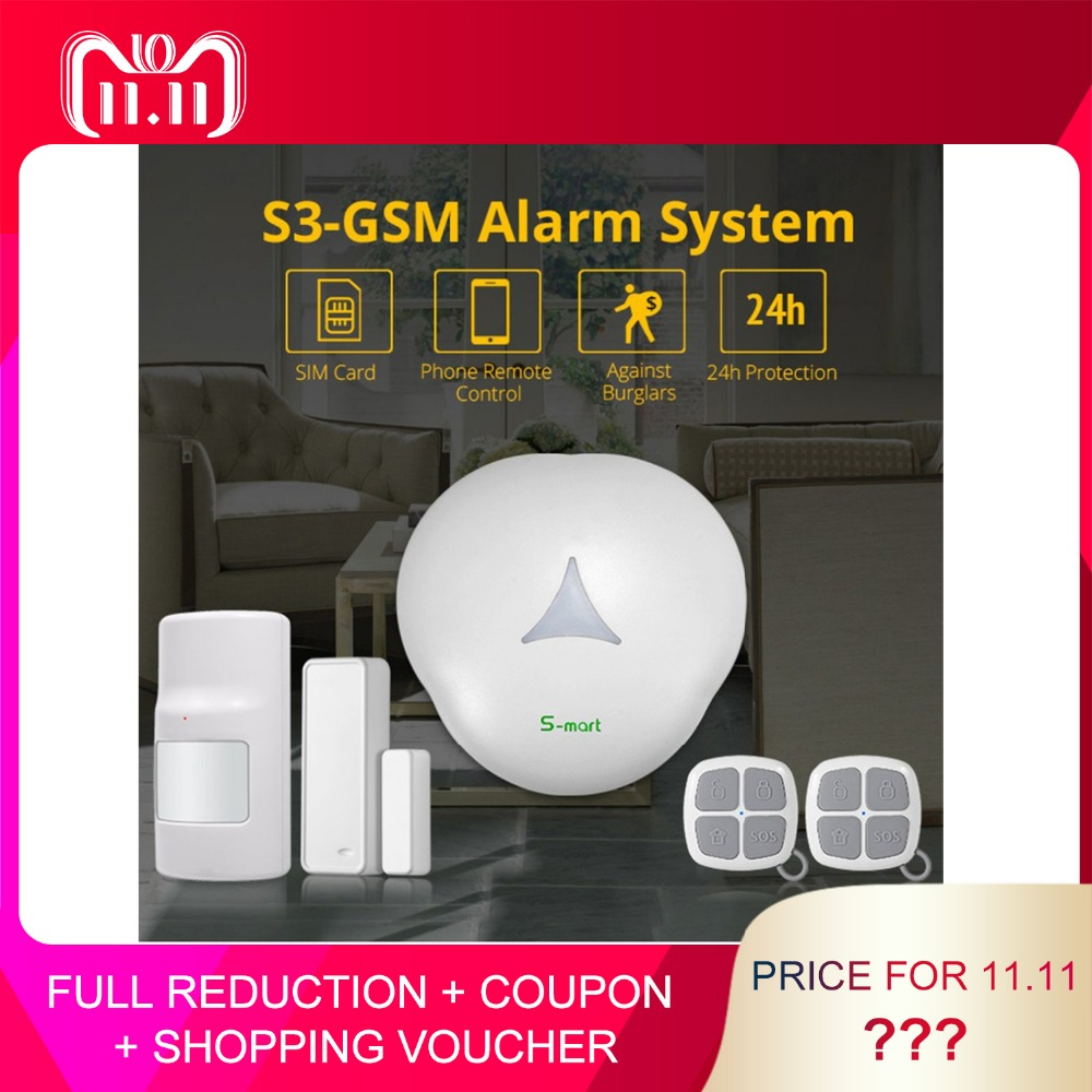 GS-S3-GSM Smart WIFI GSM Alarm System 433mhz Anti-theft Alarm Sensor Kit/Set Home Security APP Remote Control Voice Alert hot sale 1 set smart home device wireless gsm alarm system wifi app control touch panel self defense anti theft pir door sensor