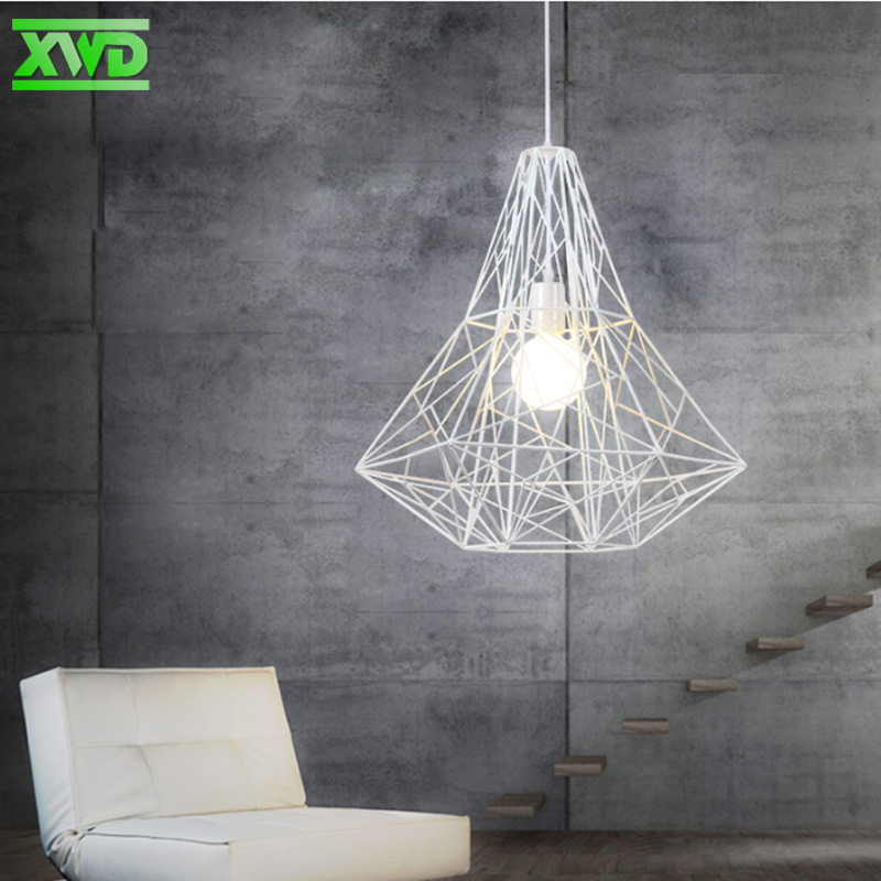 Vintage Iron Frame Pendant Lamp Coffee House/Dining Hall/Foyer/Shop Indoor Pendant Light E27 Lamp Holder 110-240V Free Shipping free shipping pendant lights rustic white candle iron 3 5 6 white lamps foyer pendant light restaurant dining pendant lamp