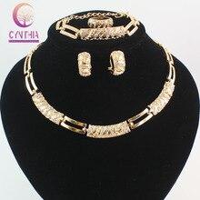 Perlas africanas Sistemas de La Joyería Con Encanto Dubai Oro Cristal de Moda Diseños Clásicos Traje Conjunto De Joyas Y Cajas de Joyas