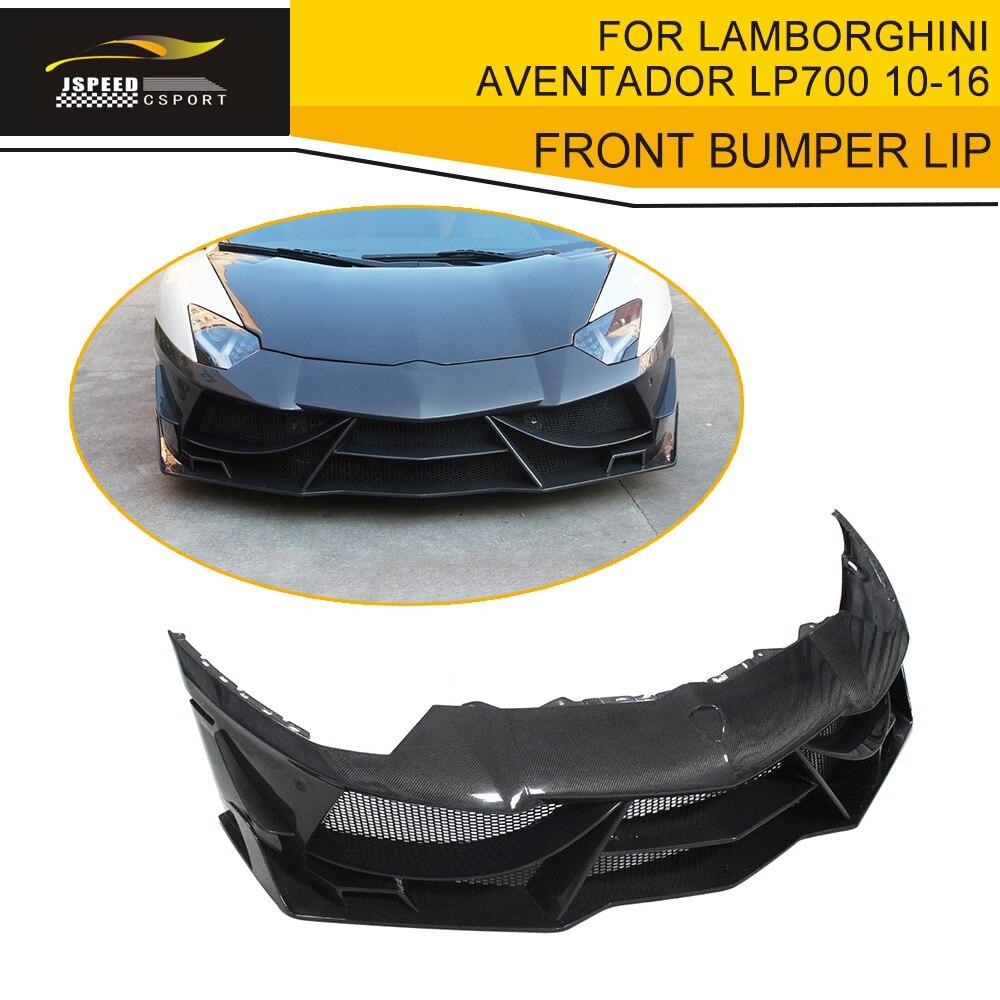 Carbon Fiber Front Bumper Lip Spoiler Case For Lamborghini Aventador Lp700 Lp700-4 Roadster Pirelli 10-16 To Enjoy High Reputation In The International Market Exterior Parts Automobiles & Motorcycles