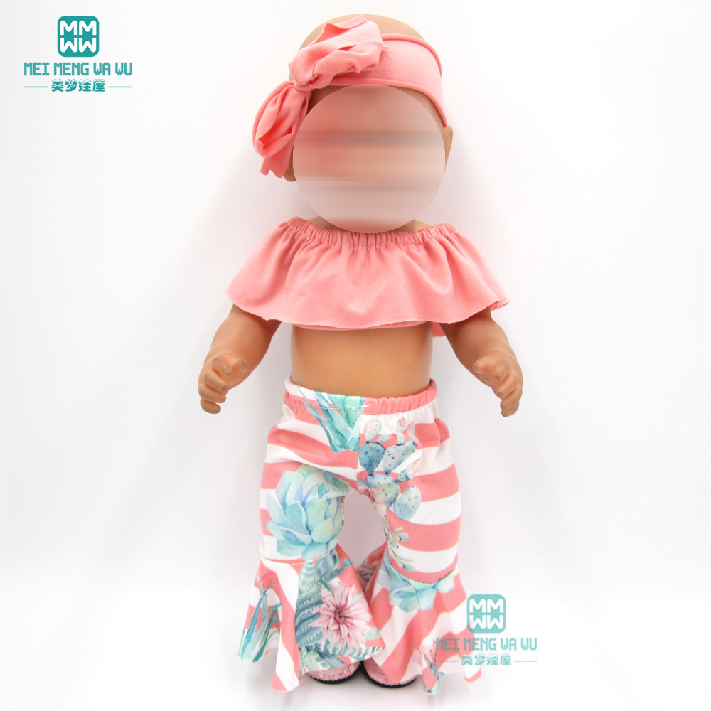 Doll Clothes For 43cm Toy New Born Dolls Accessories Dress Evening Dress Baby Dress