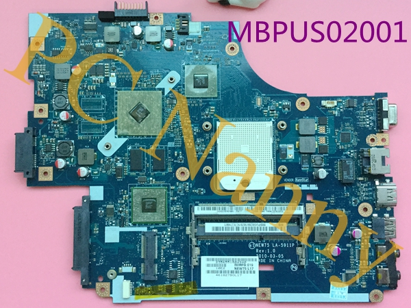 MBPUS02001 NEW75 LA-5911P For Acer Aspire 5551G Notebook Motherboard System Board ATI Mobility Radeon HD 5470 with 512 MB