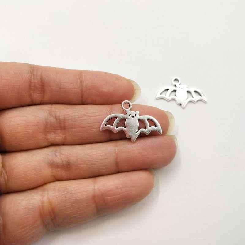 10 adet Yarasa Charms 23*16mm Tibet Gümüş Kaplama Kolye Antik Takı Yapımı DIY El Yapımı Zanaat