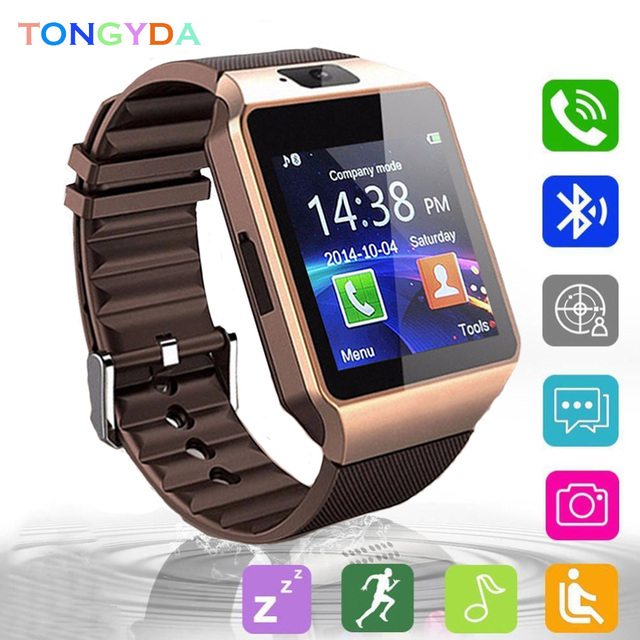 Smartwatch With Camera Smart Watch Digital Men Watch For Apple iPhone Samsung Android Mobile Phone Bluetooth 2G GSM SIM TF Card 10