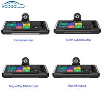 Retractable 6.86inch Center Console 4G Smart Car GPS Navigation Navigators Middle East/Russia/Europe/North America Map