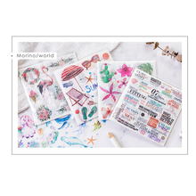 10sheets/pack Collage Series Self-adhesive Stationery Sticker DIY Decorative Scrapbooking Label Deco For Notebook