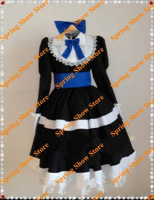 e0efceca8 Online Shop FREE SHIPPING Panty   Stocking with Garterbelt Anarchy Stocking  Black Dress Custom Made Cosplay Costume Deluxe Edition