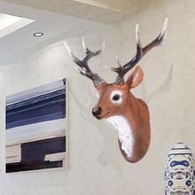 head Arts Crafts European deer hanging bar animal pendant ornaments retro minimalist living room wall Home Furnishing